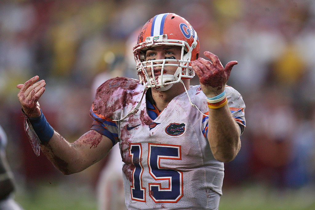 Tim Tebow established a reputation as one of the best quarterbacks in college football while at the University of Florida.
