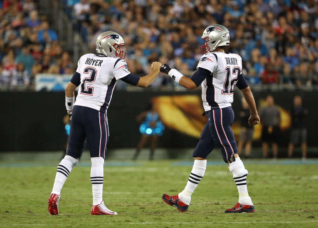 Veteran backup quarterback Brian Hoyer (8) is entering his third stint with the New England Patriots. Hoyer could replace future Hall of Famer Tom Brady, who signed with the Tampa Bay Buccaneers.