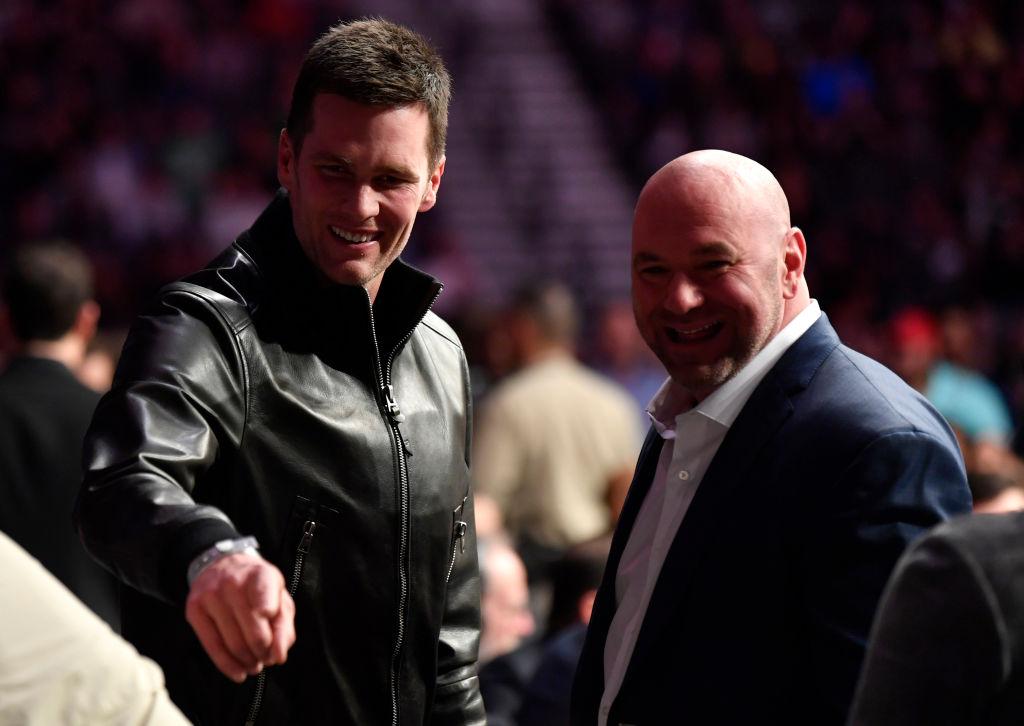 Patriots quarterback Tom Brady and UFC President Dana White