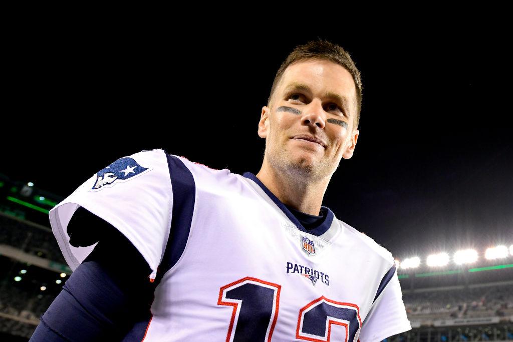 Tom Brady in Patriots jersey