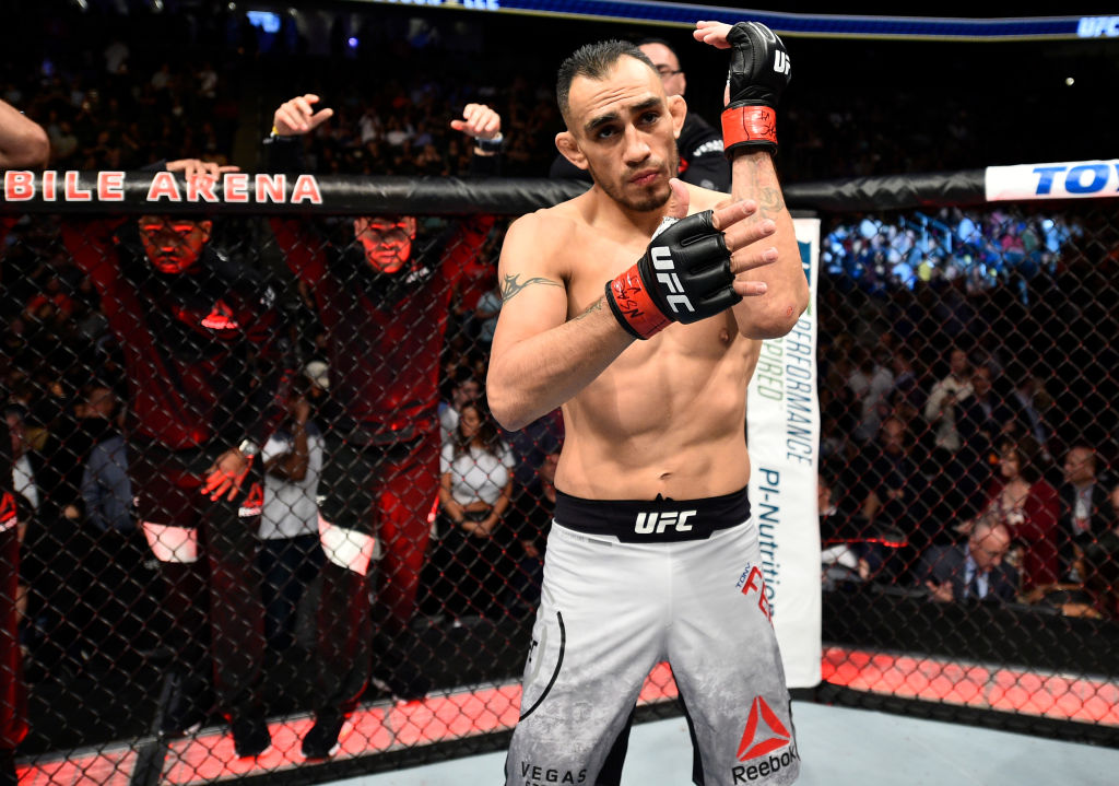 Tony Ferguson posing for the camera before his UFC fight