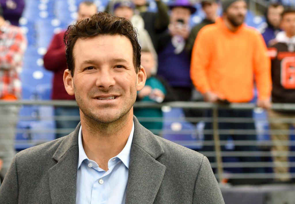 Tony Romo isn't talking about his contract negotiations with CBS.