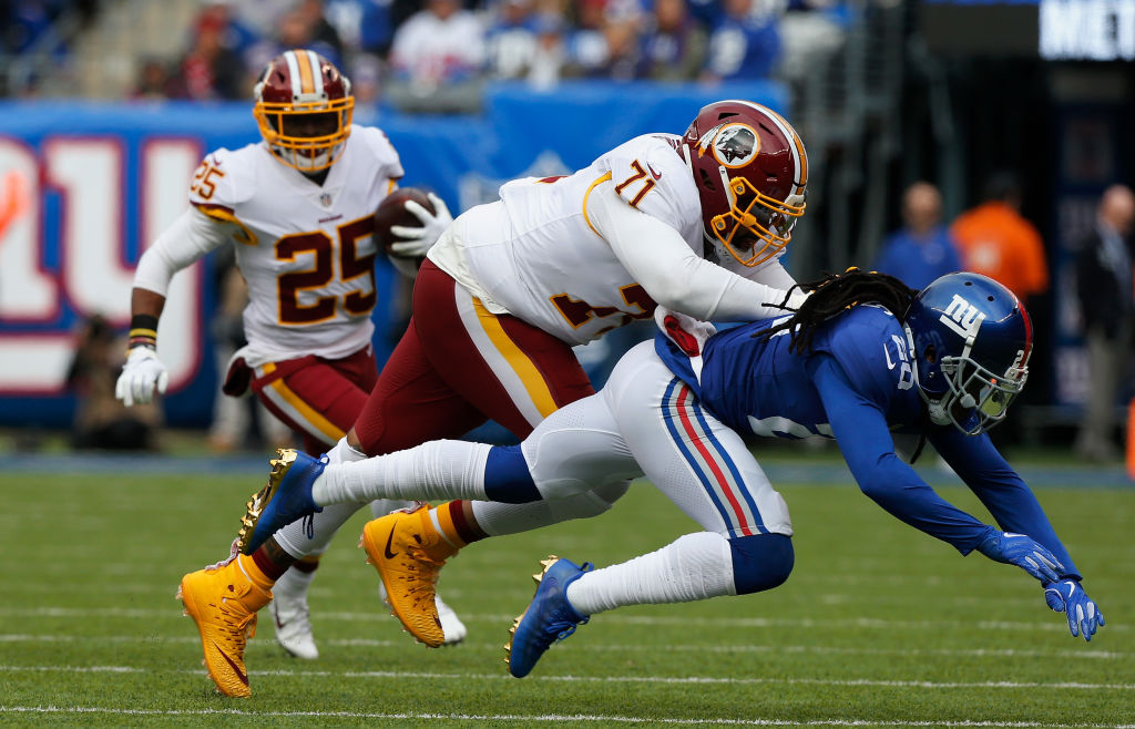 Trent Williams appears to have played his final down with the Redskins.