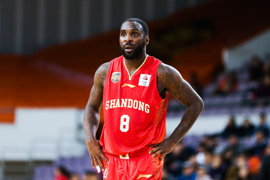 Ty Lawson of Shandong Golden Stars reacts during the 2018-19 Chinese Basketball Association (CBA) League