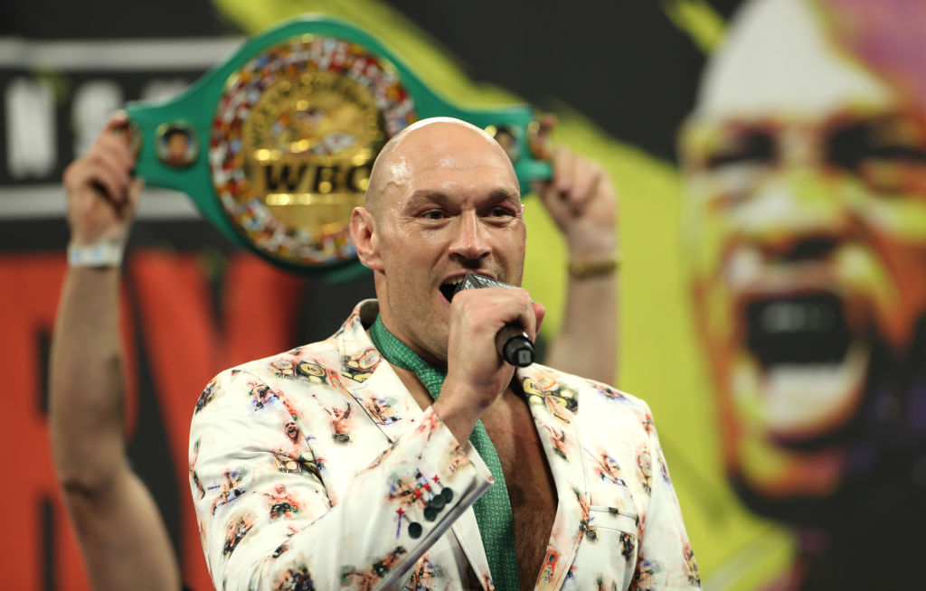 Tyson Fury talking after his fight with Deontay WIlder