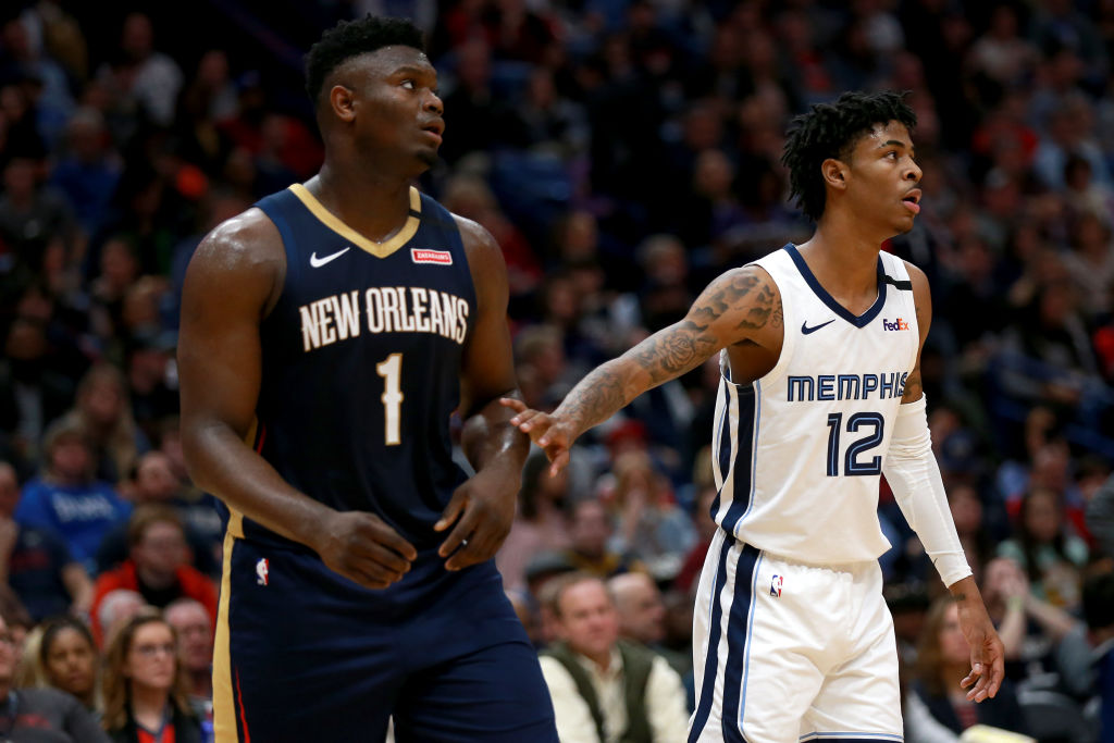 Pelicans' Zion Williamson and Grizzlies' Ja Morant
