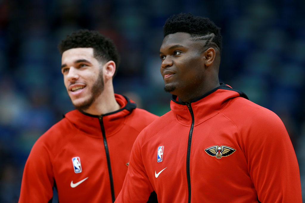 Lonzo Ball and Zion Williamson have already formed quite a bond on the court.