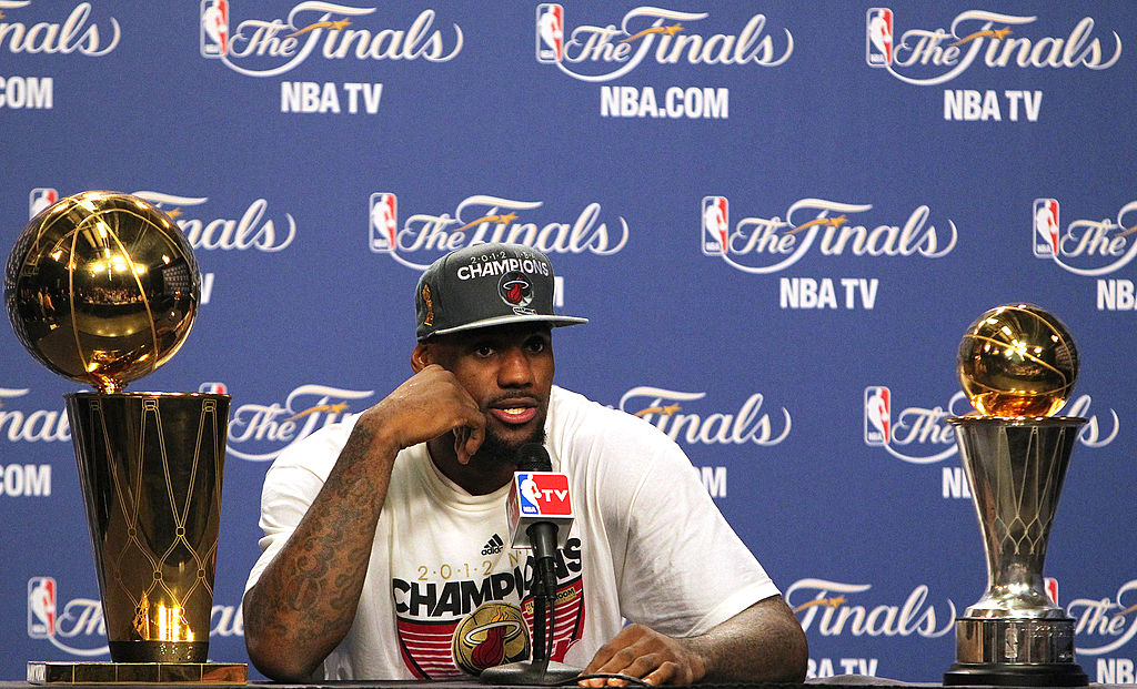 LeBron James won his first NBA Finals in 2012. After that win with the Miami Heat, James actually went and crashed a wedding.
