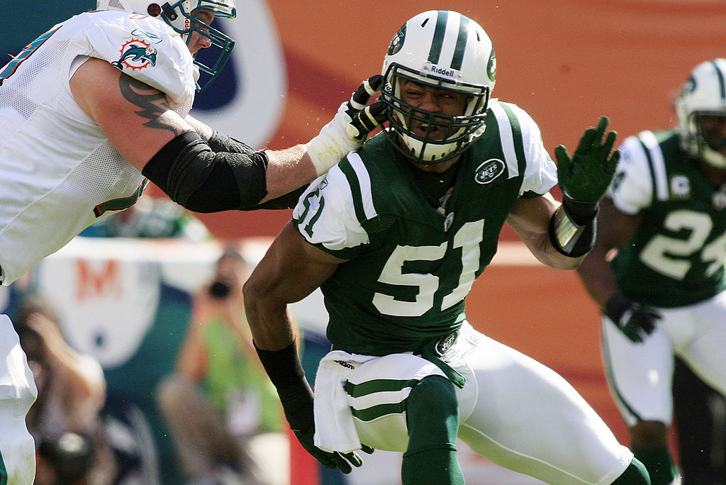 Aaron Maybin played with the Buffalo Bills and New York Jets from 2009-12. Maybin now works as a teacher in Baltimore.