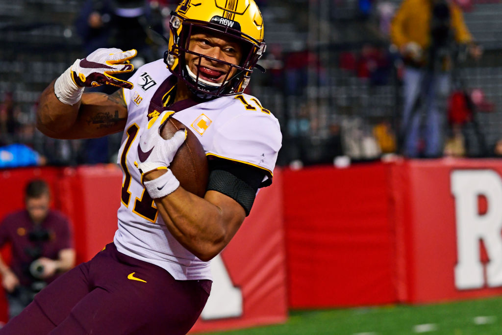 Minnesota defensive back Antoine Winfield Jr. was an All-American in 2019. Winfield's father, Antoine Sr., played 14 NFL seasons with the Buffalo Bills and Minnesota Vikings.