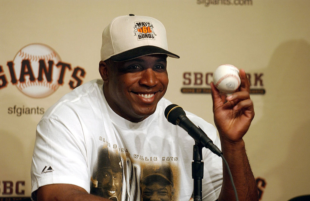 San Francisco Giants outfielder Barry Bonds tied Willie Mays, his godfather, with his 660th career home run on April 12, 2004. Bonds hit several other notable home runs on April 12 throughout his career.
