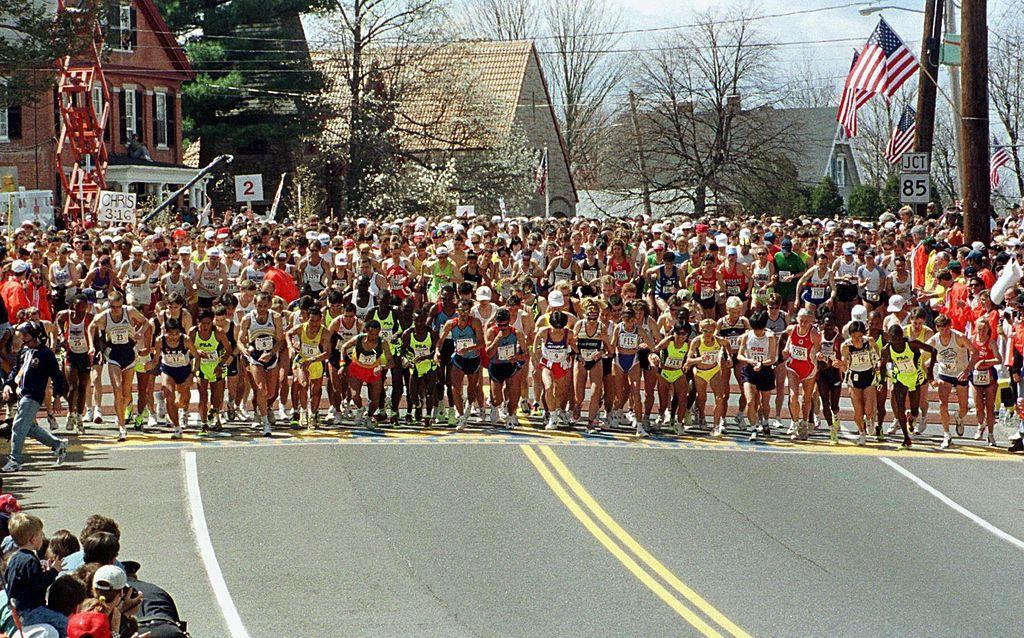 Boston Marathon Goes on for One Lonely Runner Despite Warning From Mayor