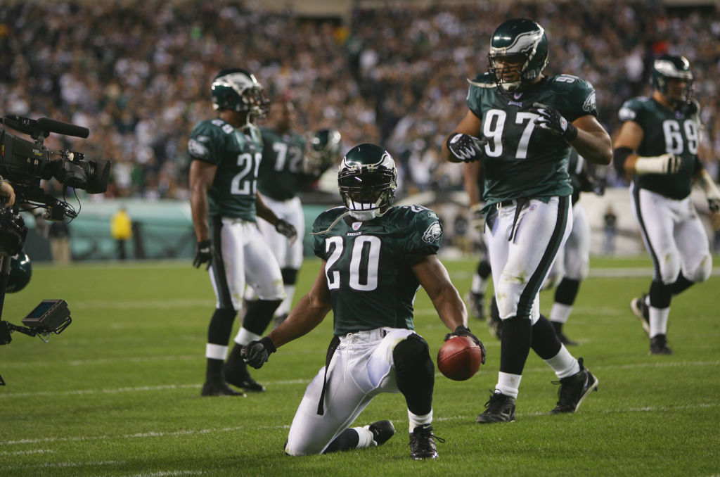 "Philadelphia Eagles legend Brian Dawkins was inducted into the Pro Football Hall of Fame in 2018. Dawkins once achieved the ultra-rare ""quadrafecta"" in 2002."