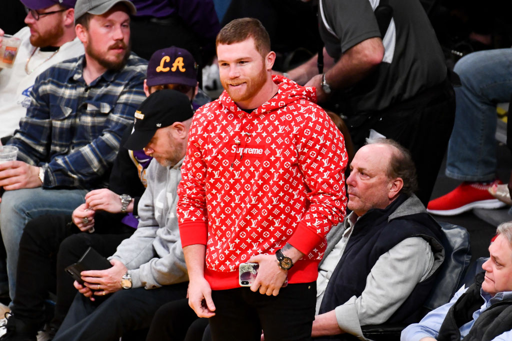 Canelo Alvarez attends a Clippers/Lakers game