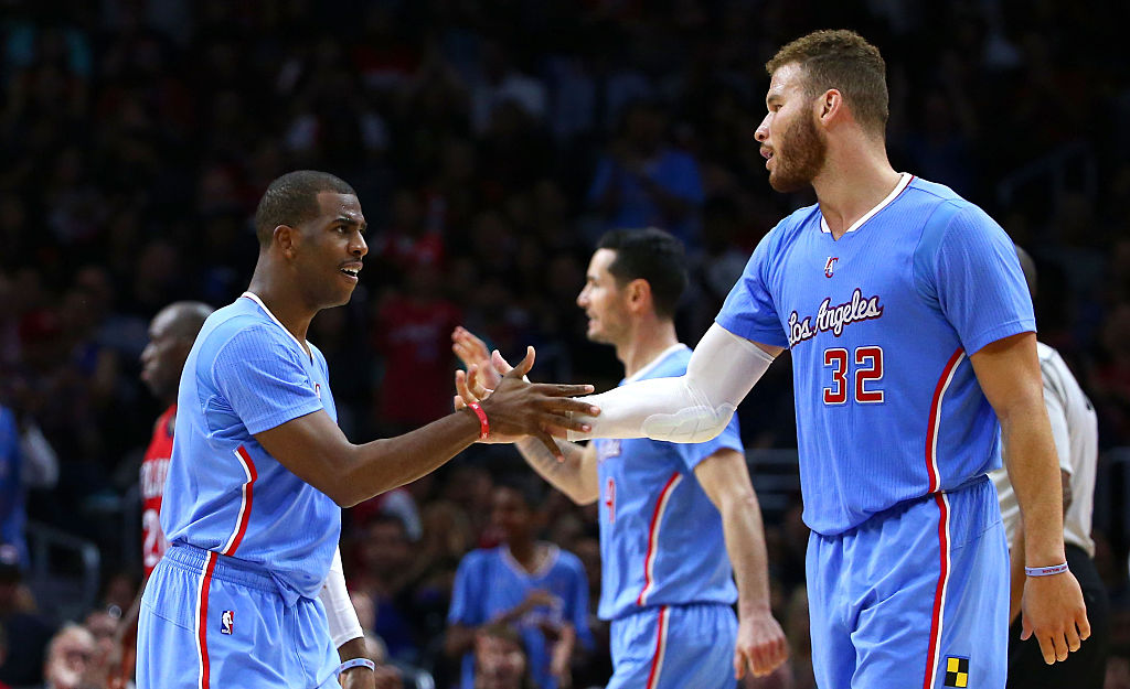 Chris Paul (left) and Blake Griffin were teammates on the Los Angeles Clippers from 2011-17. Paul says he learned something about their relationship after he was traded to the Houston Rockets.