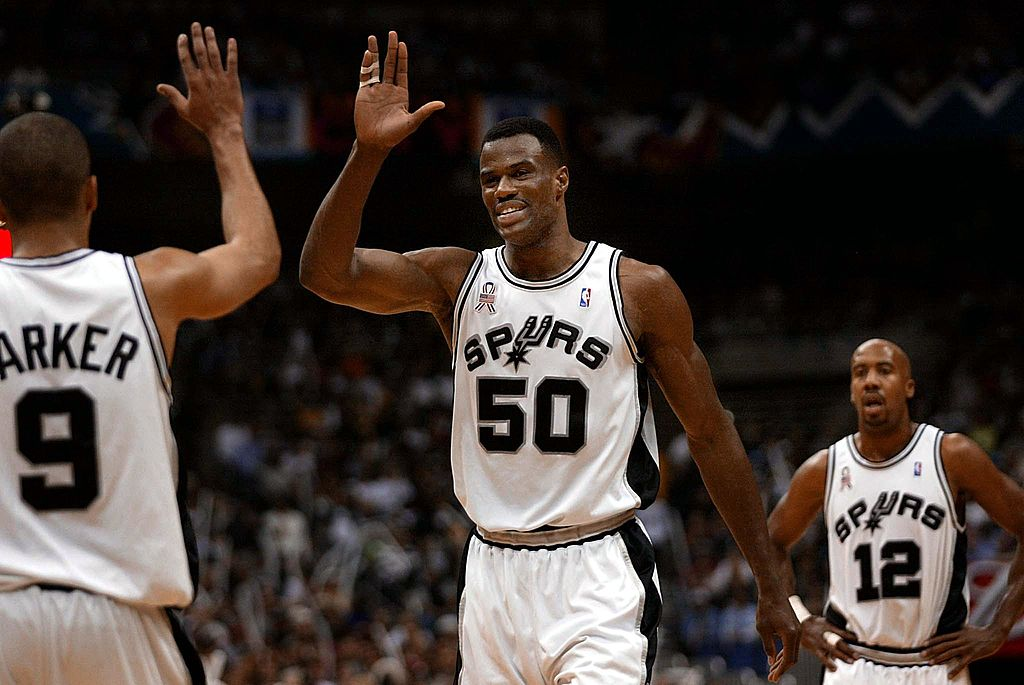 David Robinson won two NBA titles with the San Antonio Spurs before getting inducted into the NBA Hall of Fame.