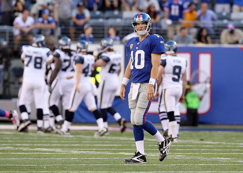 Eli Manning made $1,000 per interception after throwing 244 picks in 234 games with the New York Giants.