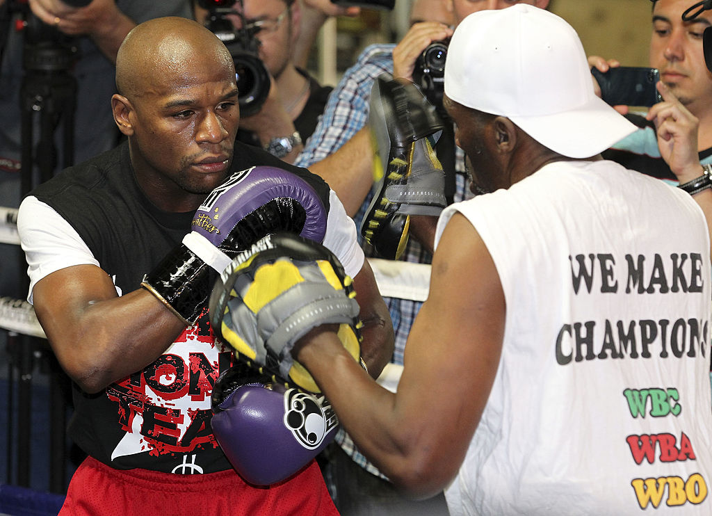 Floyd Mayweather training for a fight