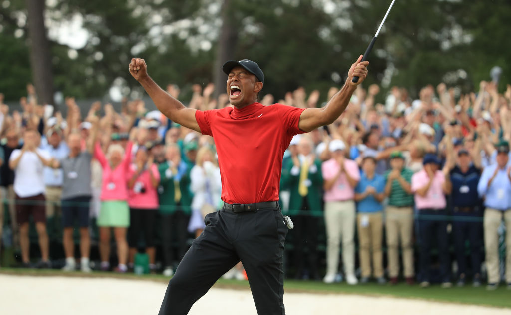 When you think of Tiger Woods you think of his iconic red polo and black pants, but do you know why he wears those colors every Sunday?