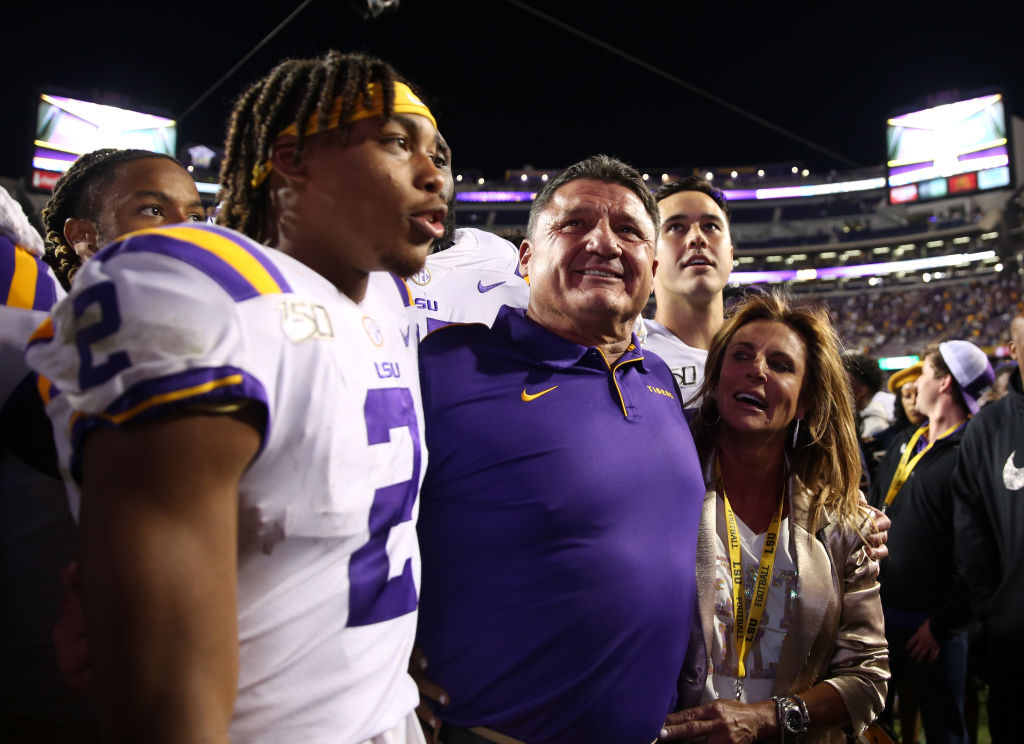 Ed Orgeron just finished up the most successful season in his coaching career, but he filed for divorce from his wife Kelly shortly after.