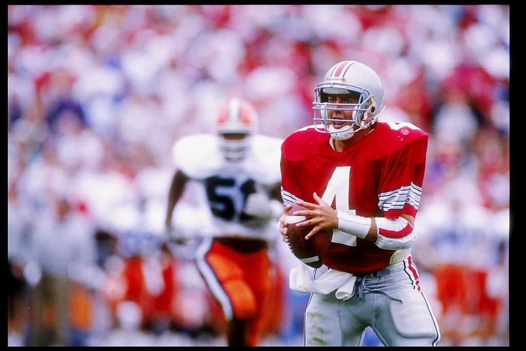 You know Kirk Herbstreit from ESPN's College Gameday, but he also played quarterback for Ohio State in college. Was he any good as a Buckeye?