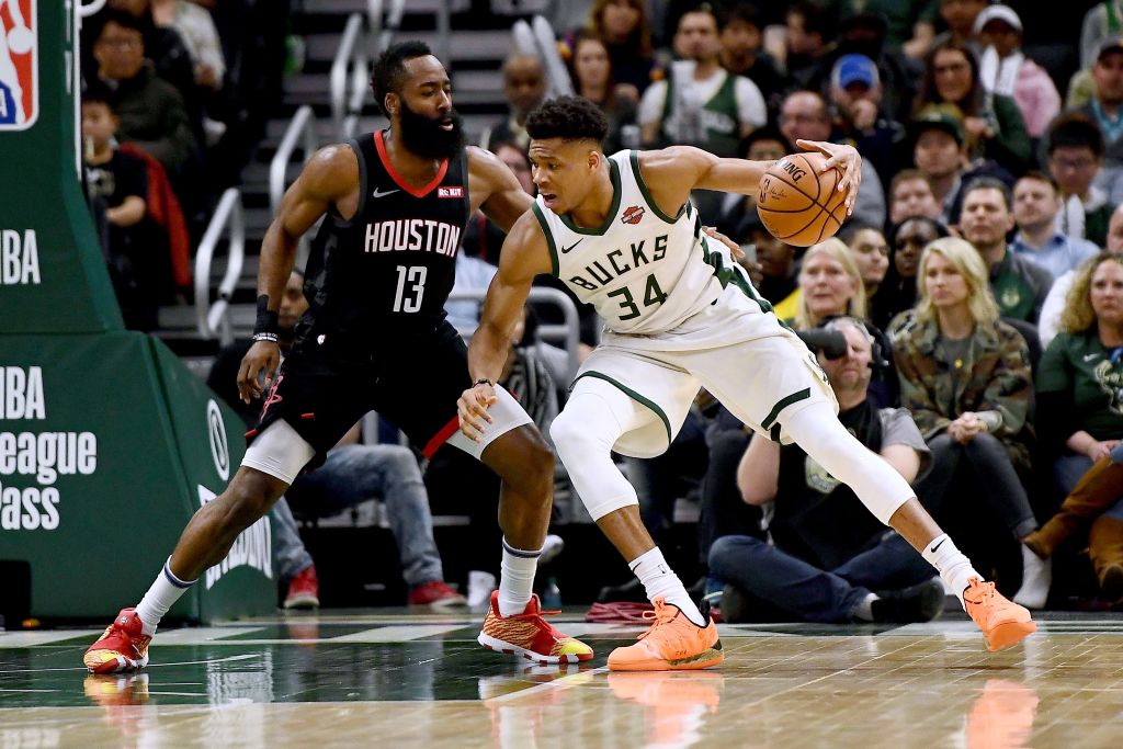 Giannis Antetokounmpo may have buried the hatchet with James Harden.