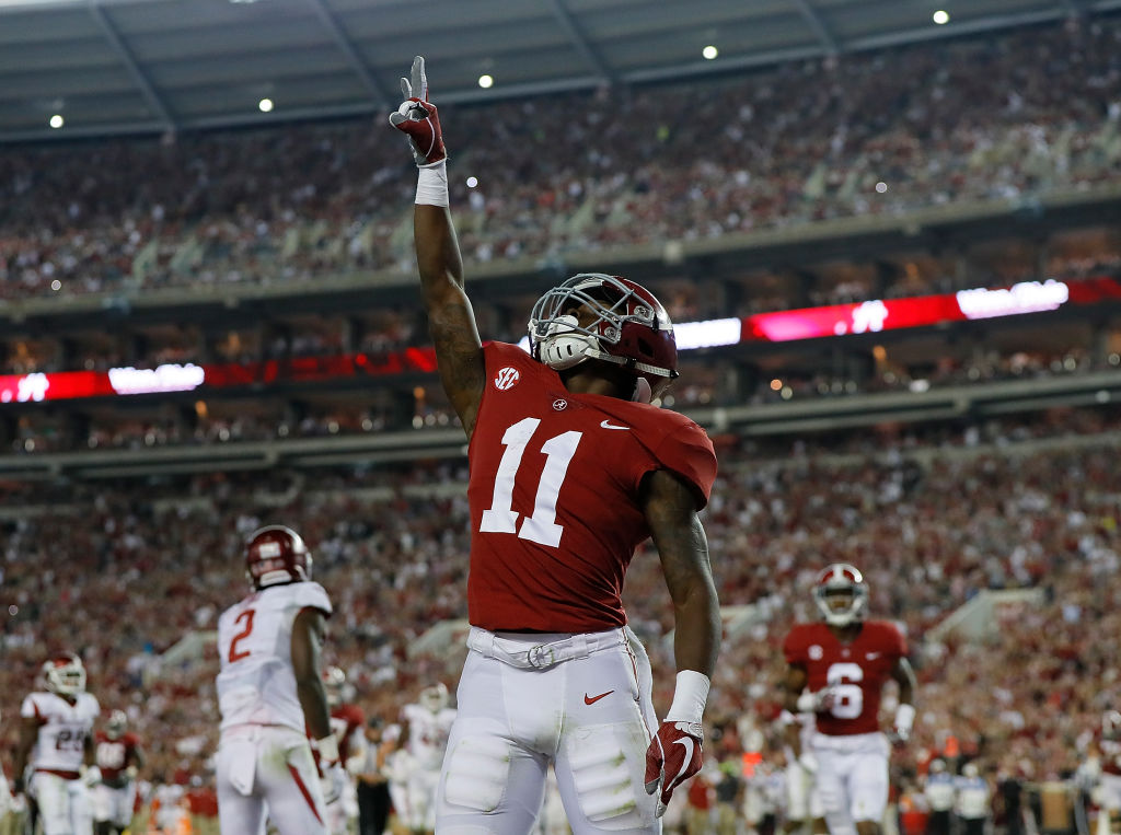 Alabama receiver Henry Ruggs III averaged 17.5 yards per catch in college. Ruggs has the makings of a bust at the NFL level, though.