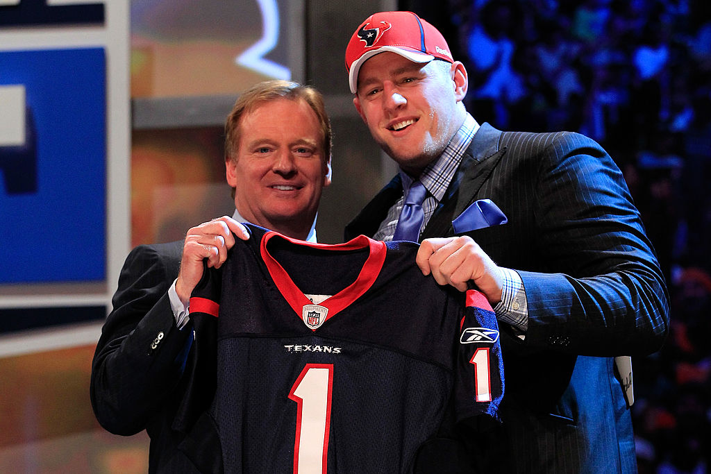 The Houston Texans drafted J.J. Watt with the No. 11 overall pick in 2011. Watt used the boos he received on draft night to become an NFL great.