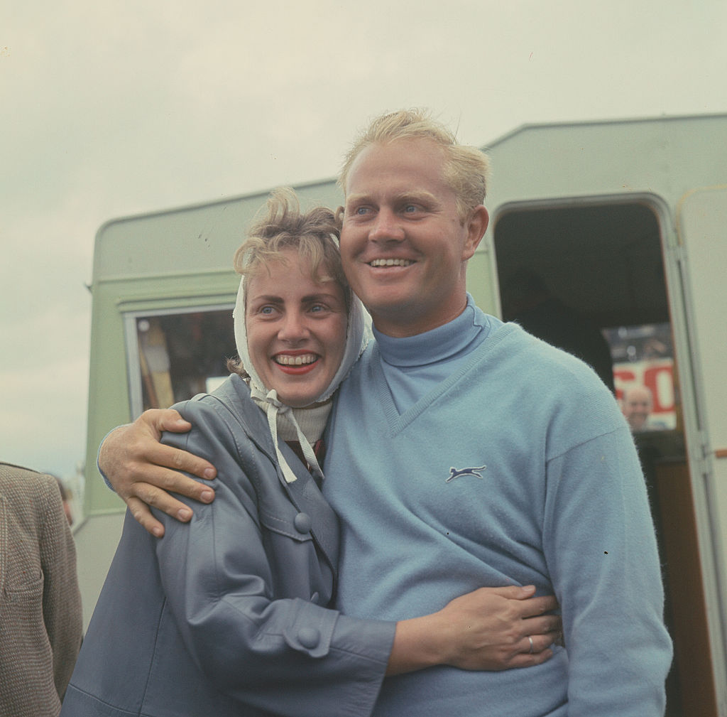 Jack Nicklaus with his wife Barbara at the 1966 Open Championship