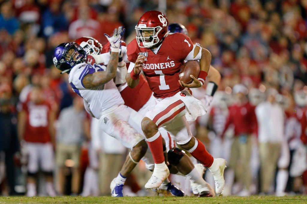 Oklahoma Sooners quarterback Jalen Hurts has earned comparisons to New Orleans' Taysom Hill in recent weeks. Hurts could become a dangerous weapon in the NFL.