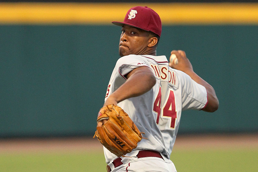 Former Tampa Bay Buccaneers quarterback Jameis Winston had a 2.69 ERA in two seasons at Florida State. Could Winston pivot to baseball after five NFL seasons?