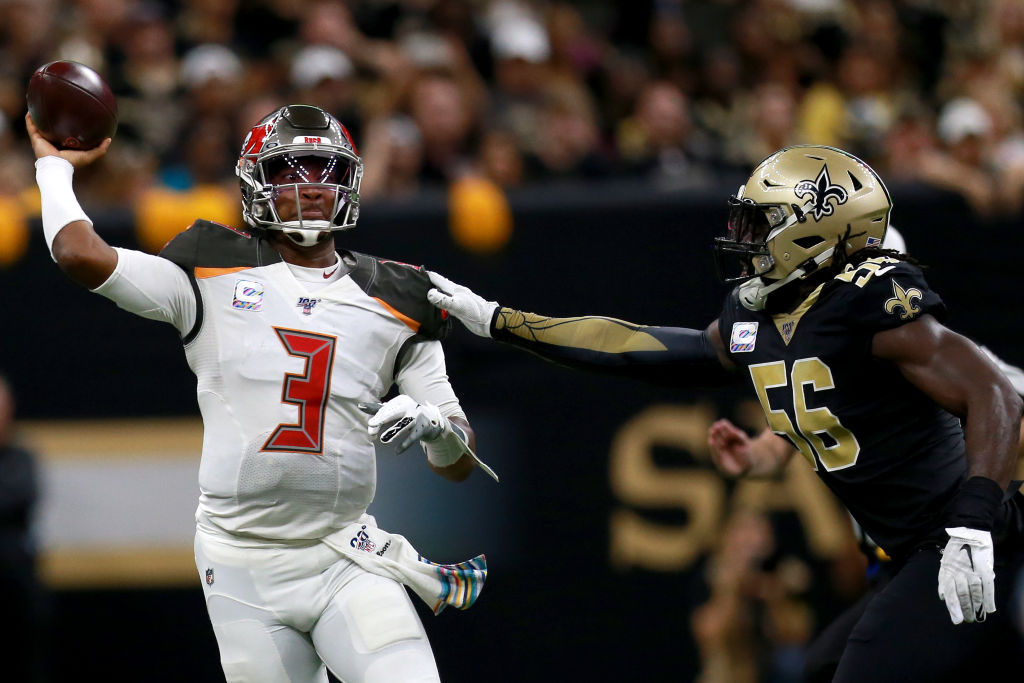 Jameis Winston has completed more passes to Saints players than current New Orleans backup QB Taysom Hill.