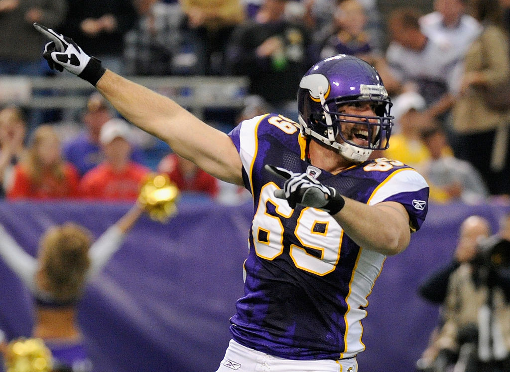Former Vikings star pass-rusher Jared Allen twice led the NFL in sacks. Now, Allen is pursuing an Olympic curling career.