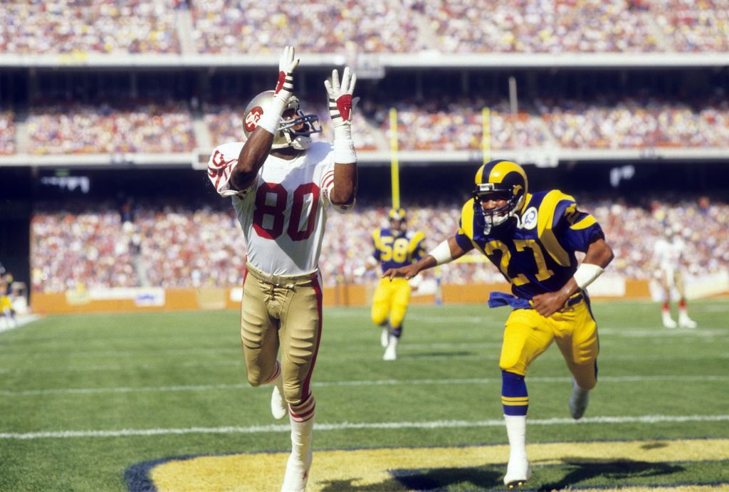 San Francisco 49ers legend Jerry Rice played in the NFL from 1985-2004. How much would the greatest receiver of all time have made if he played today?