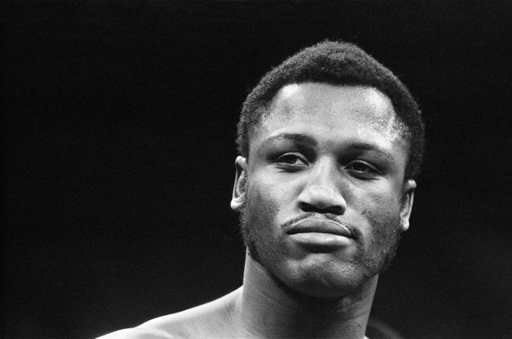 Joe Frazier gets ready to weigh in for a boxing match
