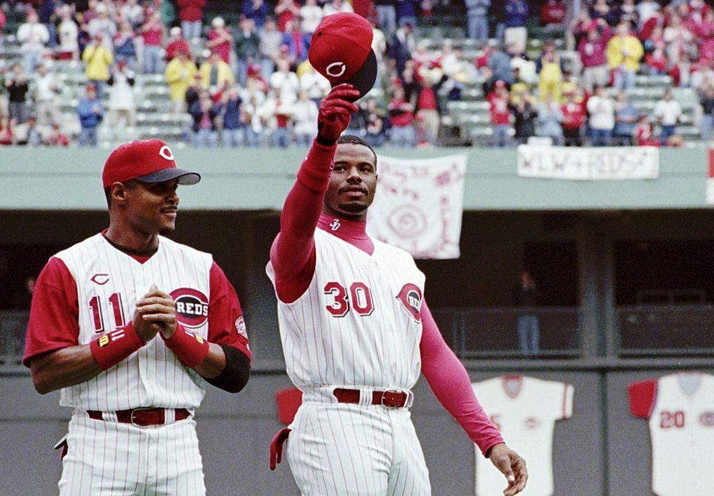 Cincinnati Reds outfielder Ken Griffey Jr. hit his 400th career home run on April 10, 2000. Griffey grew up in Cincinnati.