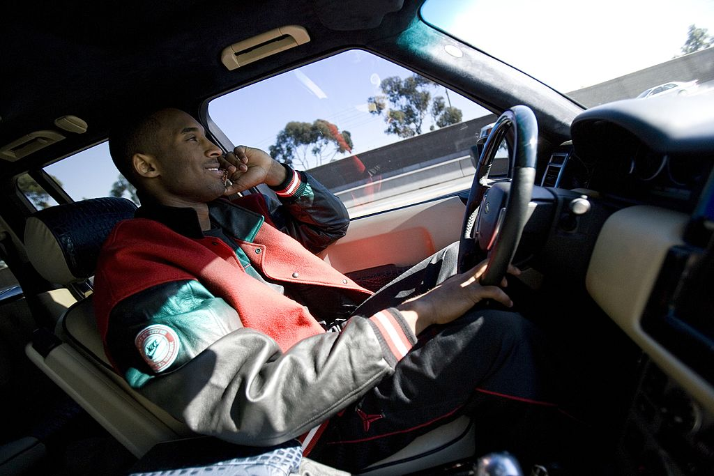 Kobe Bryant drives on the 110 Freeway in Los Angeles