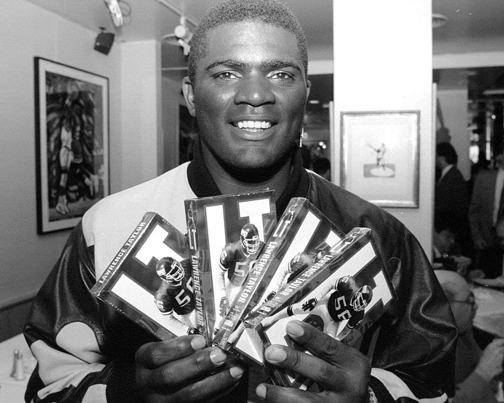 Lawrence Taylor is worth less than a Super Bowl game check after blowing nearly all of his earnings from the Giants.
