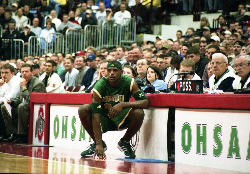 LeBron James of St Vincent-St. Mary High School in 2002