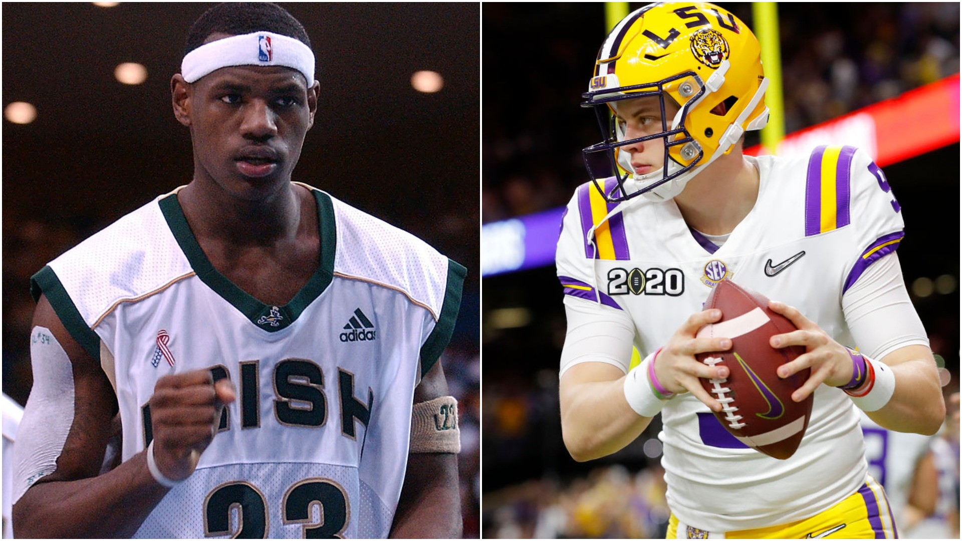 Joe Burrow is going to the Cincinnati Bengals. Looking at his path to becoming a pro, it is pretty similar to the path of LeBron James.