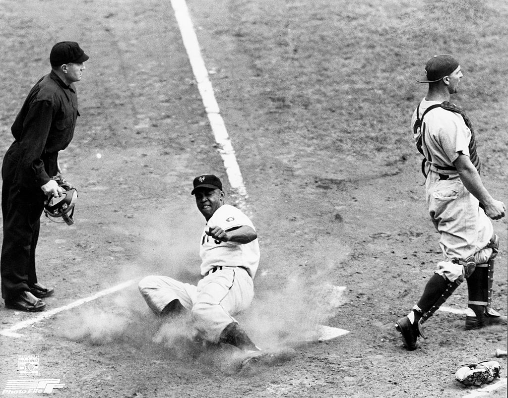 Longtime New York Giants outfielder Monte Irvin almost broke baseball's color barrier in the 1940s instead of future Brooklyn Dodgers star Jackie Robinson.