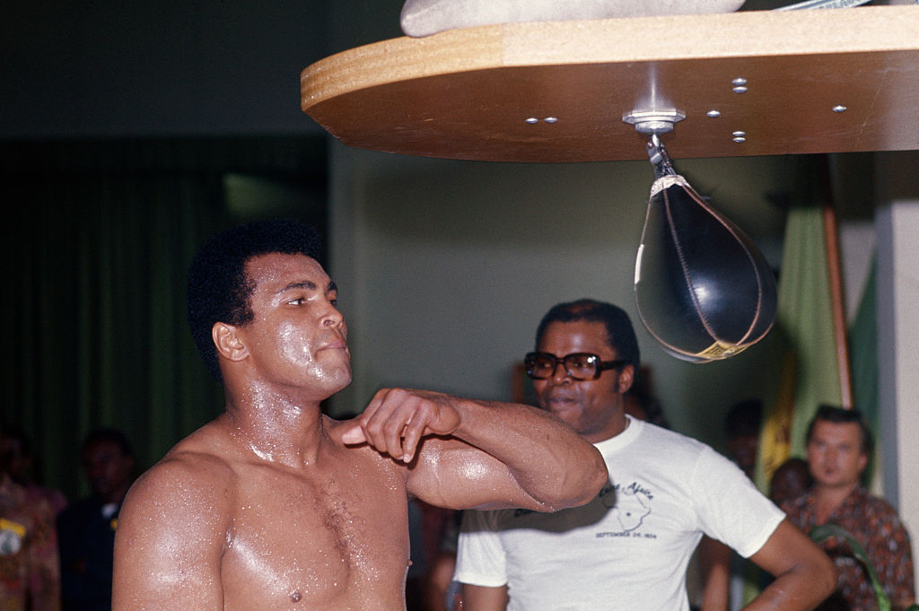 A photographer suggested that Muhammad Ali use the rope-a-dope to beat George Foreman.