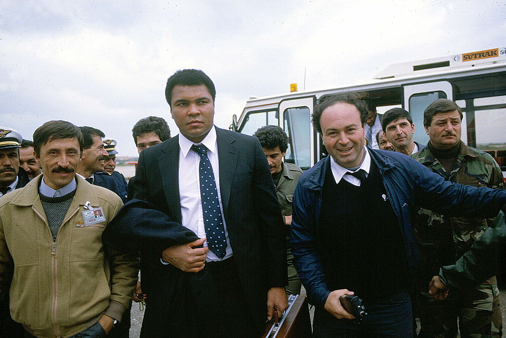 Muhammad Ali on his way to help negotiate the release of hostages