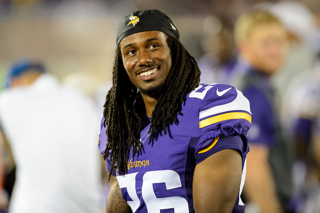 Trae Waynes of the Minnesota Vikings looks on during a preseason game