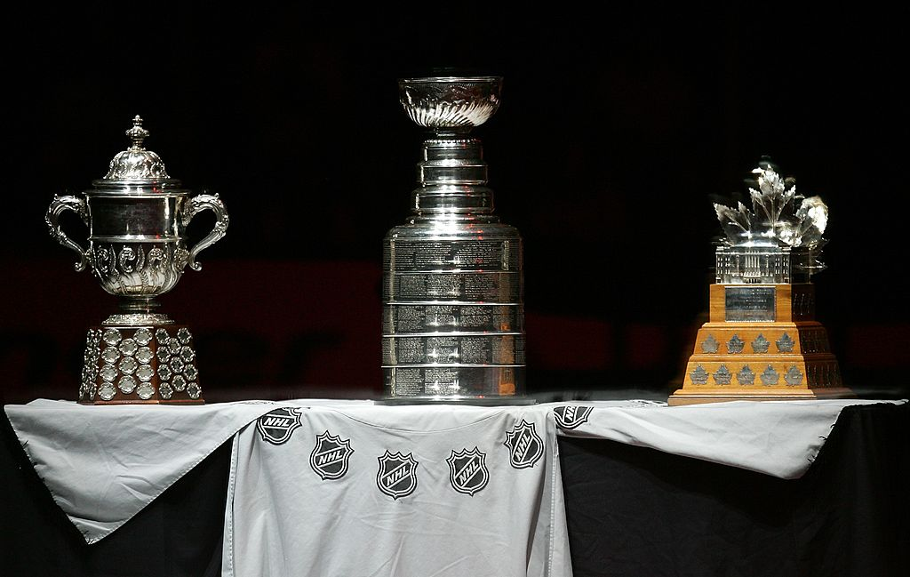 The Stanley Cup on display on a table