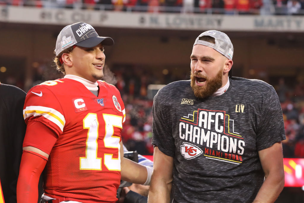 Chiefs' Patrick Mahomes and Travis Kelce