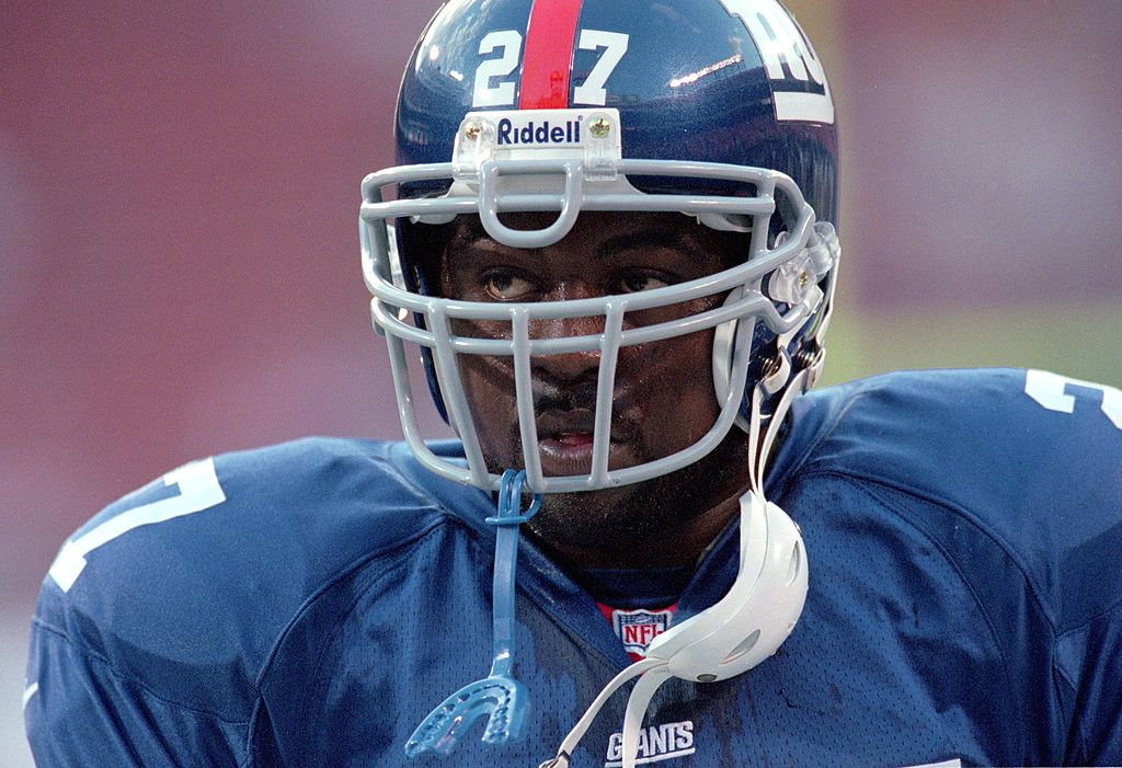 Ron Dayne playing for the New York Giants