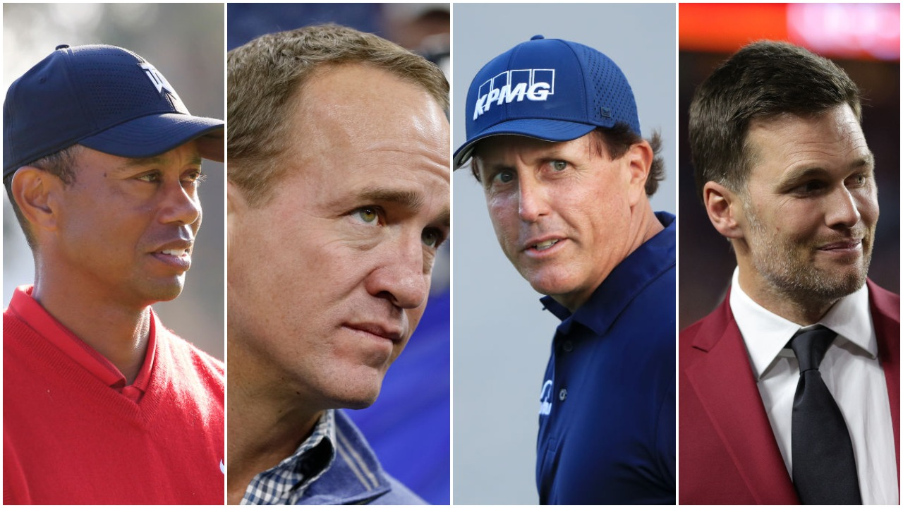 Tiger Woods Peyton Manning Phil Mickelson Tom Brady
