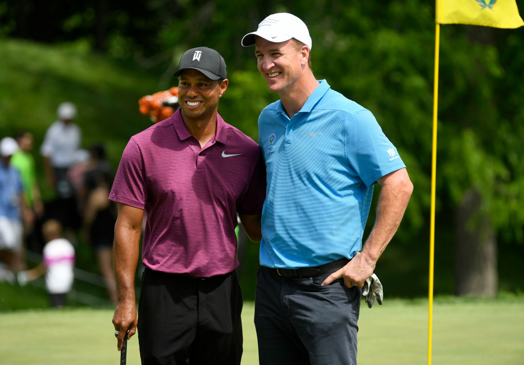 Tiger Woods & Peyton Manning vs. Phil Mickelson & Tom Brady? Yes, Please