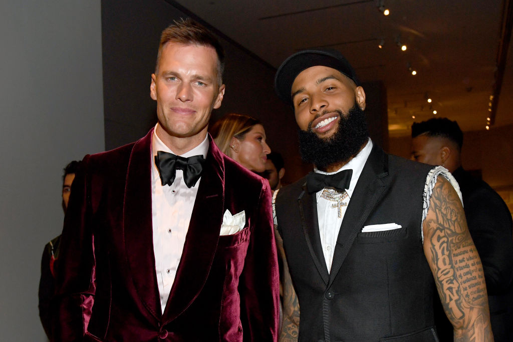 Tom Brady and Odell Beckham Jr. posing at the Met Gala